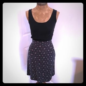Anthropologie Odille Charcoal Pencil Skirt